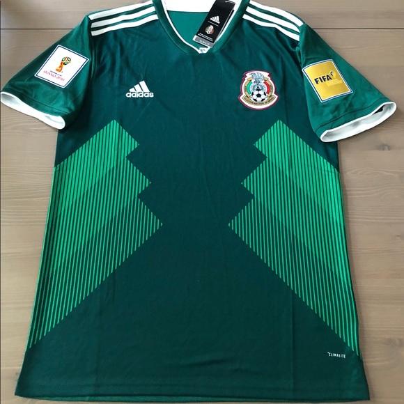 453022a26 Mexico Home Soccer Jersey men adidas World Cup